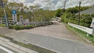 高滝湖の駐車場への入り口