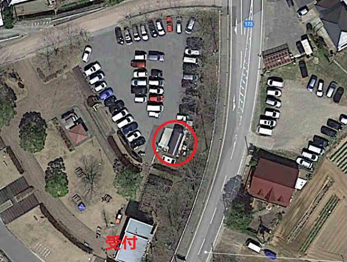 駐車場のトイレ